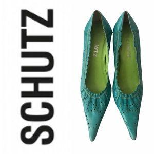 SCHUTZ Beautiful colourful stiletto shoes